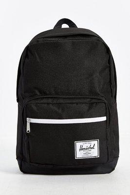 現貨 Herschel Pop Quiz 全黑 白拉鍊 帆布 筆電 多夾層 實用 書包 後背包
