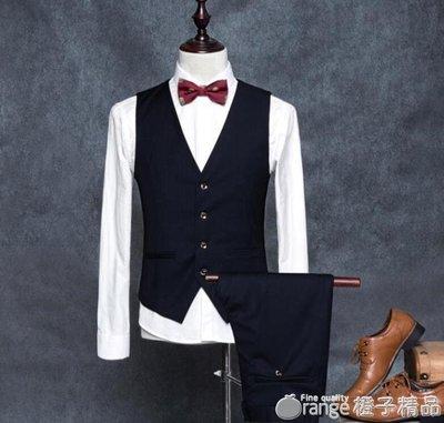 男士正裝英倫新郎伴郎馬甲西服外套韓版修身潮男小西裝青少年背心