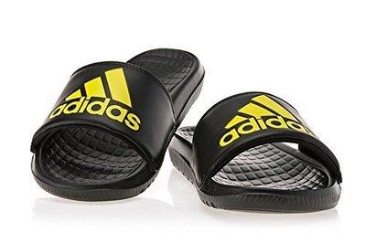 【鞋印良品】adidas 愛迪達 VOLOOMIX GR 運動拖鞋 BB0520 黑黃 大LOGO 運動 拖鞋 男鞋