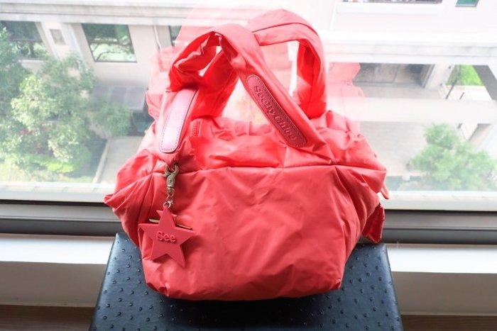 *Beauty*SEE BY CHLOE粉橘色空氣包 附星型吊飾小手提包 可肩背CR 加圖