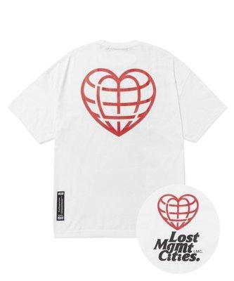 【inSAne】LMC Heart Globe Tee 黑/紅/白 S M L XL
