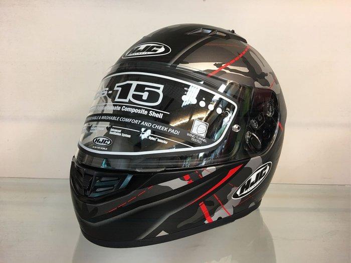 台中大里~moto2 輪館~韓國HJC CS15全罩式安全帽+購電鍍片$1000