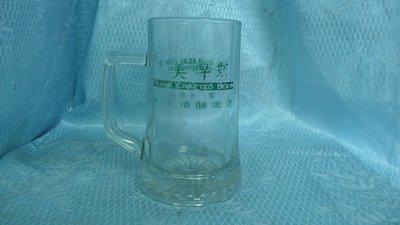 黑色小館~~4F33~~~玻璃啤酒杯(約高15公分.寬9.5公分)