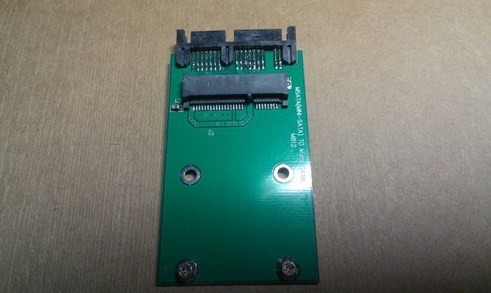 "mSATA to 1.8"" Micro SATA(7+9 pin) 轉接卡"
