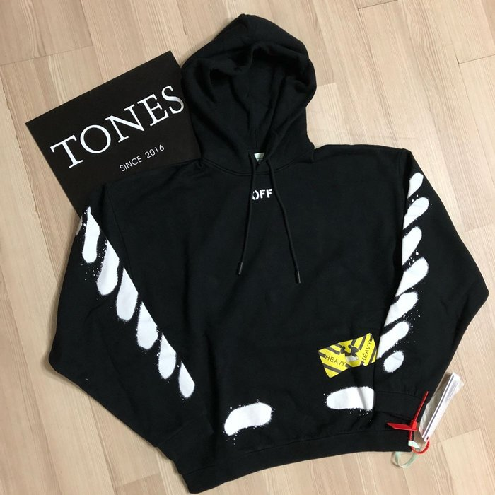 【TONES.】OFF WHITE SS17 HOODIE 噴墨 最新款 帽TEE 小賈 GD JUSTIN