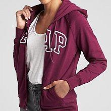 GAP美國品牌經典logo葡萄紫色素面刷毛外套 女生 全新 專櫃 正品 S號 直購
