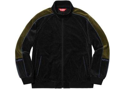 【紐約范特西】預購 Supreme FW18 Velour Track Jacket 絨布夾克 3色