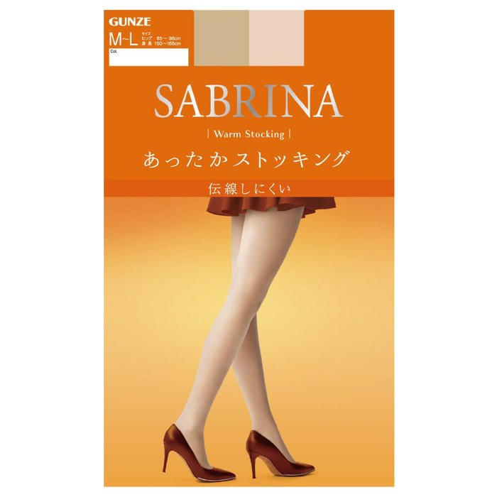 【拓拔月坊】GUNZE 郡是 SABRINA Warm 防勾紗 腹部加厚 保暖柔軟絲襪 日本製~新款!L-LL