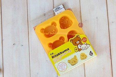 日本貝印矽膠蛋糕模_拉拉熊頭+小雞坐姿_DN-0203◎矽膠模.拉拉熊頭.小雞.模具.蛋糕.巧克力.模型