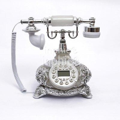 INPHIC-豪華歐式電話機 高檔田園座式電話 創意復古仿舊座機