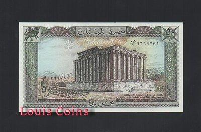 【Louis Coins】B244-LEBANON--1964-1988黎巴嫩紙幣50 Livres