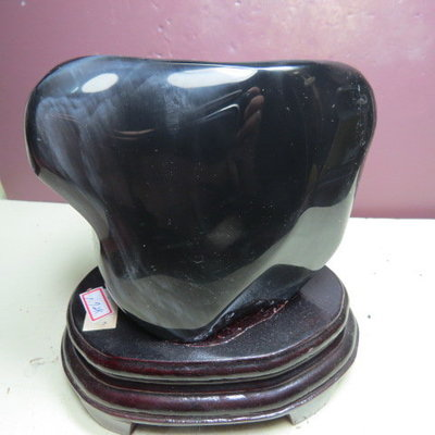 【競標網】天然墨西哥彩虹黑曜石原礦1720克(贈座)(網路特價品、原價4500元)限量一件
