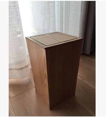 【優上】水曲柳款木製翻蓋垃圾桶 獨家