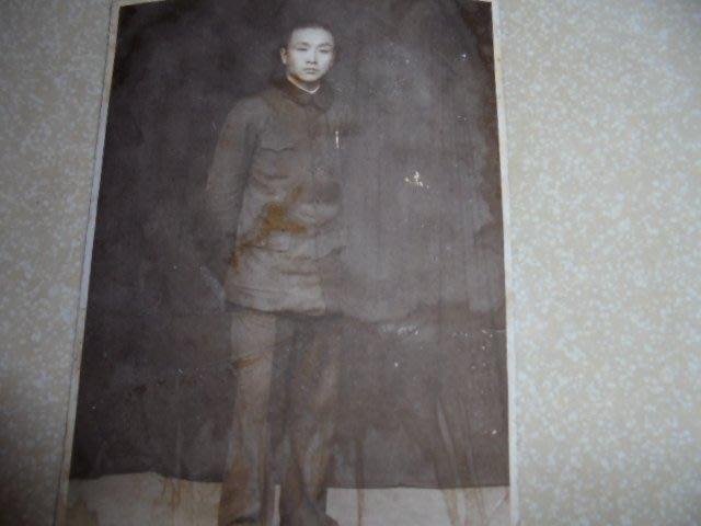 早期國民黨大陸淪陷前致民國28年贈朋友紀念黑白照片1張有寫字*牛哥哥二手藏書