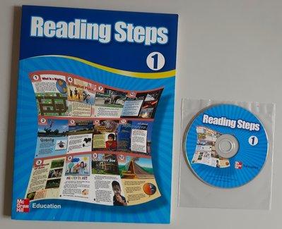 基礎英文檢定系列 Reading Steps 1 英文閱讀理解與寫作、字彙、閱讀技巧策略【全新、附CD】