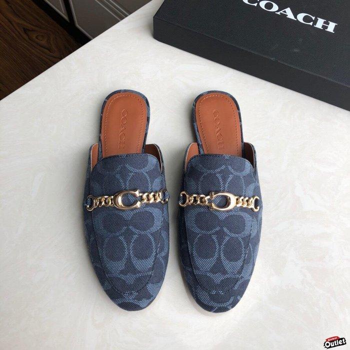 【全球購.COM】COACH 寇馳 2020新款 懶人鞋 五金屬滿版LOGO 百搭休閒鞋3 時尚精品 美國連線代購