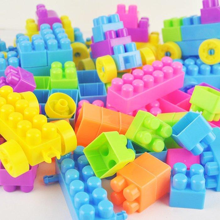 兒童顆粒塑料益智拼搭拼裝插積木1-2男女孩寶寶玩具3-6周歲積木WY