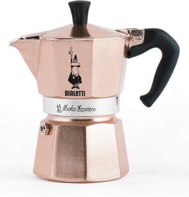 義大利 Bialetti Moka Express 摩卡壺 6人份 玫瑰金 經典摩卡壺 (MOKA)  咖啡壺 現貨