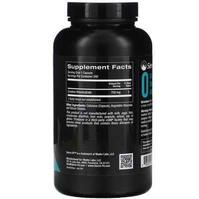 【靈靈美澳代購】美國直郵Sierra Fit一水肌酸creatine運動健身 750毫克240粒膠囊
