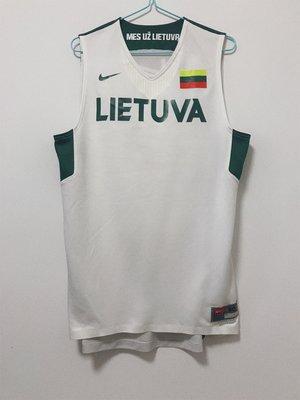 正品球衣~NK贊助 FIBA立陶宛男籃國家隊 2012倫敦奧運GI 空白白板球衣