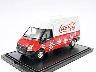 【秉田屋】現貨 Oxford Ford 福特 Transit Van MK5 LWB Xmas 可口可樂 1/76