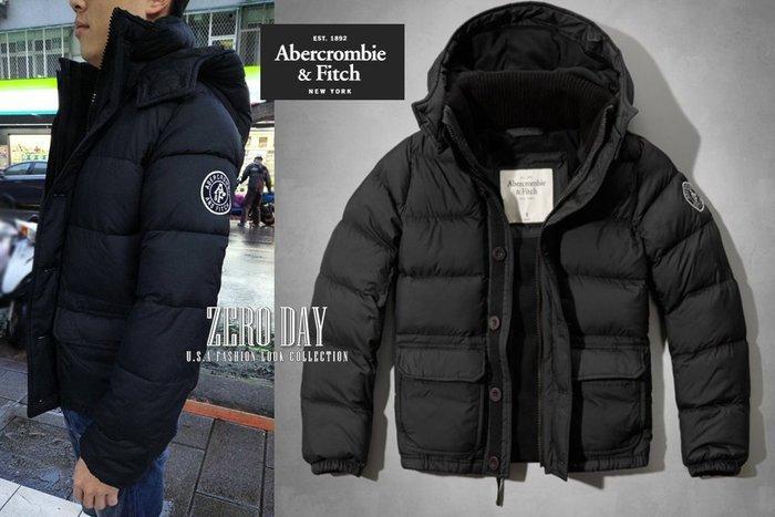 【零時差】A&F Abercrombie&Fitch Hunters Pass Puffer Jacket防寒厚外套-黑