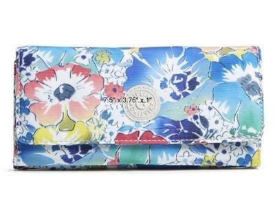 [美國精品屋] 比利時品牌 KipLing 繽紛花朵長夾