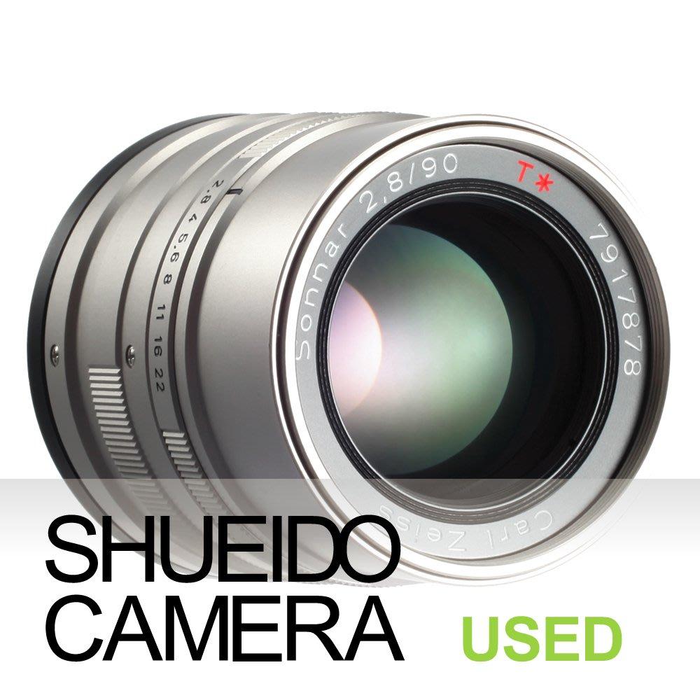 集英堂写真機【3個月保固】極上品 CONTAX ZEISS SONNAR T* 90mm F2.8 G 鏡頭 17178