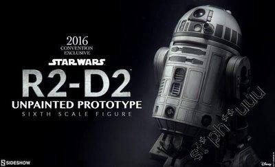 全新啡盒未開 Sideshow Toys Star Wars 星球大戰R2-D2 R2D2 Unpainted Prototype Hot連 hottoys 袋
