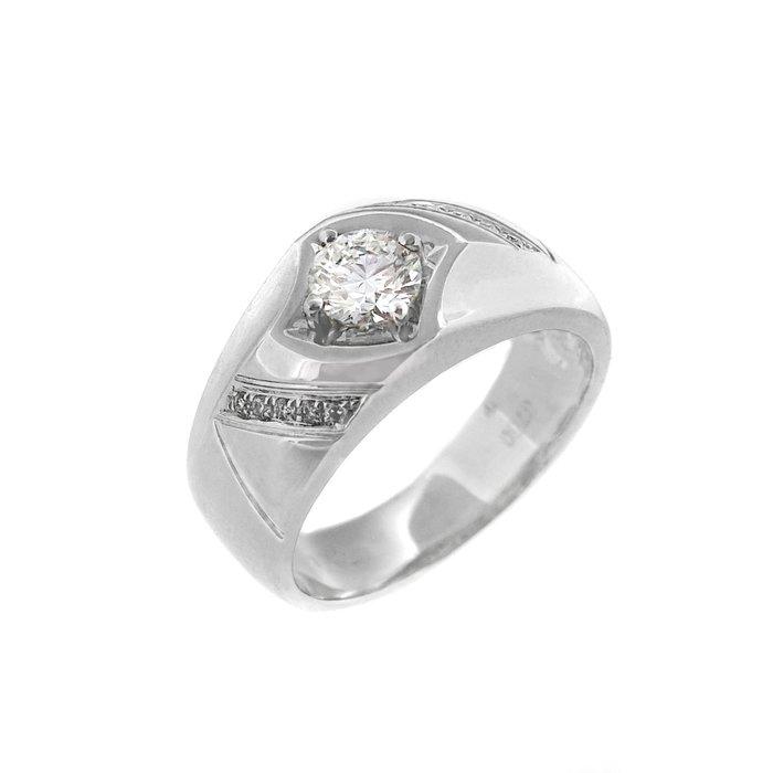 【JHT 金宏總珠寶/GIA鑽石專賣】0.50ctGIA天然鑽石戒指/E-SI1/材質:18K(CR00184)