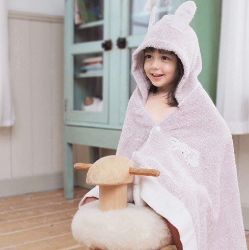 日本製  KONTEX今治刺繡兔兔浴巾-現貨藍色