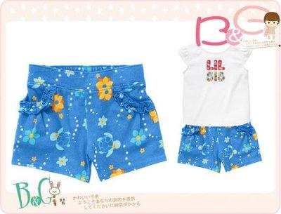 【B& G童裝】正品美國進口Crazy8 小海龜圖樣天藍色短褲18-24mos,3yrs
