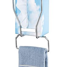 ~ LZ麗緻衛浴~ 不銹鋼鍍鉻直立式抽取衛生紙架附擦手巾掛架(需使用盒裝面紙)