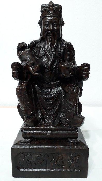 【九龍藝品】沉木雕 ~ 土地公 ~ 招財進寶.高約20.3公分 (1)