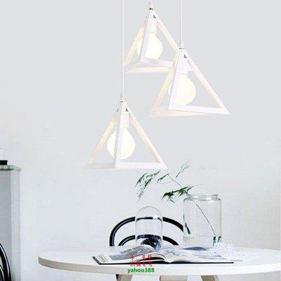 【美學】北歐復古工業風鐵藝吊燈燈具簡約三頭單頭餐廳過道燈MX_1412