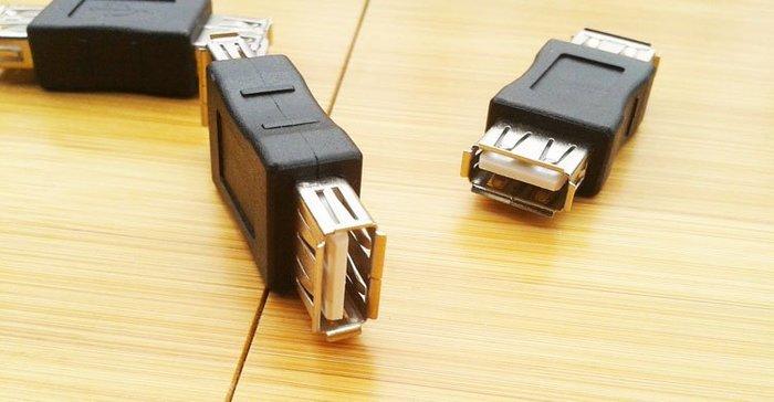 ☆蝶飛☆usb 轉接頭 USB線延長 對接頭 母對母 USB直通頭 USB母轉母 USB-A母對A母