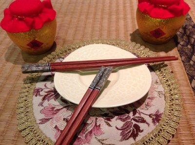 【便利士】過年精美伴手禮 開幕8折起! 貝殼鑲嵌頂級手工筷 (原石灰)30g
