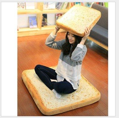 LoVus -創意原味切片吐司抱枕靠墊坐墊寵物墊(60cm)