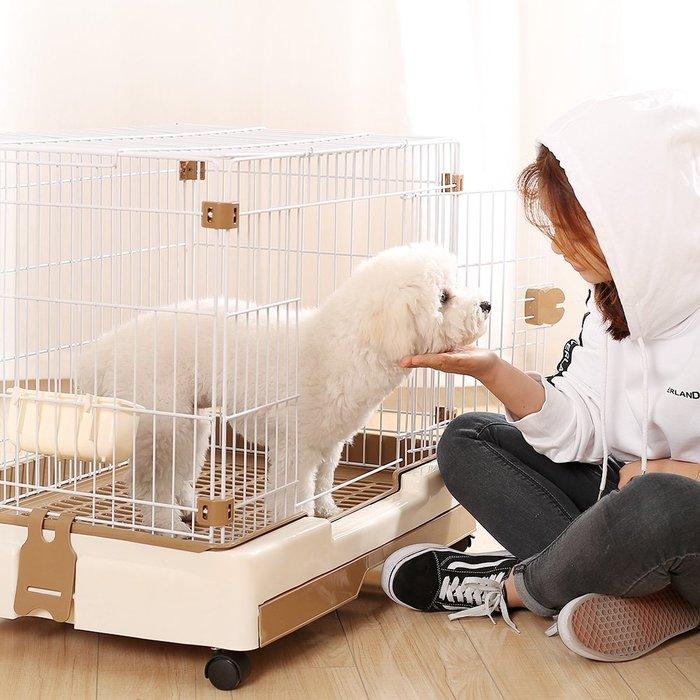 廠家~特價泰迪狗狗籠子小型中型犬比熊寵物圍欄貓籠柵欄小狗帶廁所室內家用