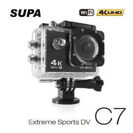 【皓翔】速霸C7 4K/1080P超高解析度 WiFi 極限運動 機車防水型行車記錄器