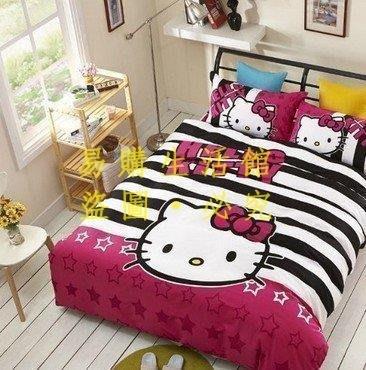 [王哥廠家直销]星空 KT kitty 雙人加大 床件組 床包組(被套/枕頭套/床包)-1.8MLeGou_76_76