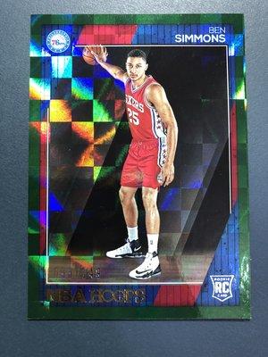 Ben Simmons 2016-17 Panini NBA Hoops Green #/149 限量新人RC球卡