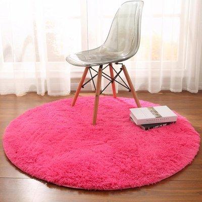 地毯 歐式圓形瑜伽墊吊籃藤椅墊電腦椅地板墊客廳茶幾臥室地毯可愛YSY