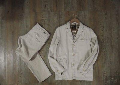 日本帶回 GYPSY&SONS 休閒西服 日本製 SACK COAT 棉麻 夾克 成套西裝 k72 春 秋