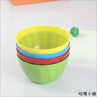 收納 特價小物 【塑料碗】耐摔彩色碗火鍋碗 餐廳餐具兒童小碗飯碗湯碗批發單筆訂購滿200出貨唷