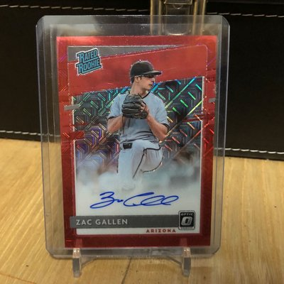2020 PANINI DONRUSS OPTIC RATED ROOKIE RED WAVE AUTO D-BACKS - ZAC GALLEN /99