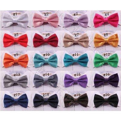 5Cgo【鴿樓】會員有優惠  25619964770 20色新款男士領結 純色格子蝴蝶結 結婚時尚表演bow tie煲呔