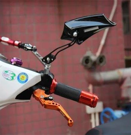 摩托後視鏡 電動車電瓶車摩托車鋁合金反光鏡 后視鏡倒車鏡8mm通用反光鏡CXZJ