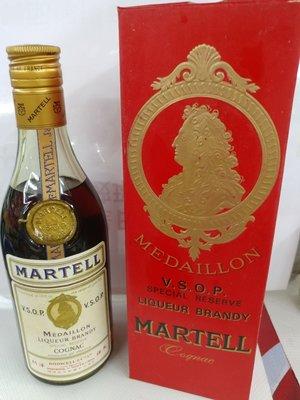 Martell Cognac 350ml 六十年代醇舊金牌(天祥代理),連盒,靚招纸,收藏超過五十年以上,市埸少有。