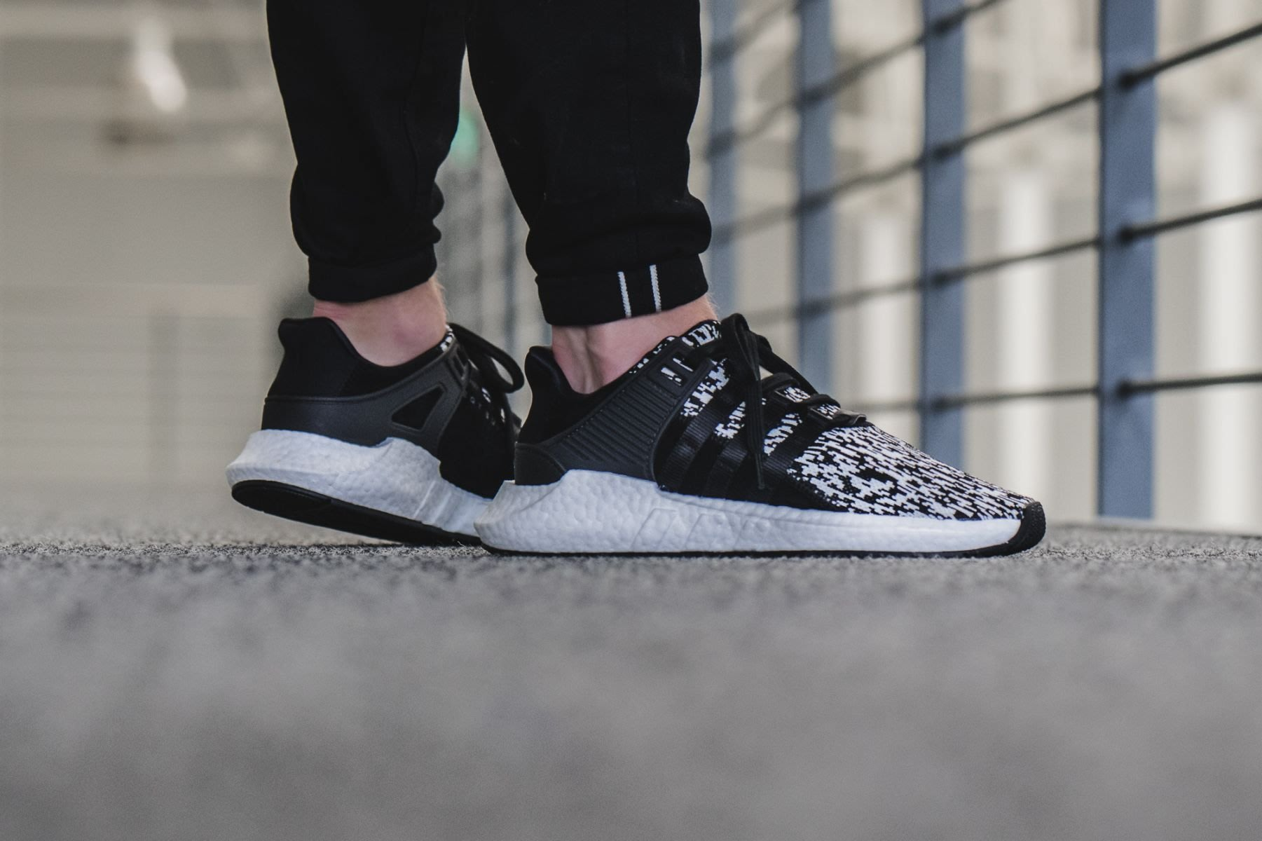 BOUTIQUE adidas EQT Support 93 17 Boost 黑白雪花編織BZ0584  f8390d8aeb